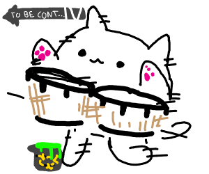 bongo cat about to trip on toxic waste