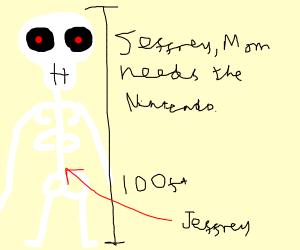 Mom needs the Nintendo, hand it over Jeffrey!