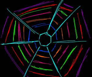 Trippy spider web