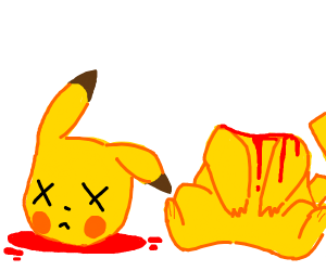 Decapitated Pikachu
