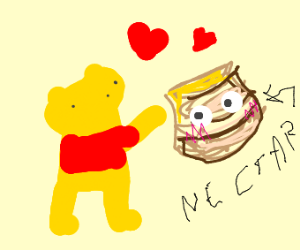 winny the pooh loves that sweet nectar