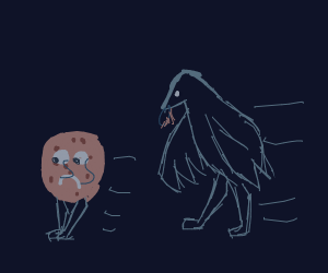 Cookie runs from hungry birdman