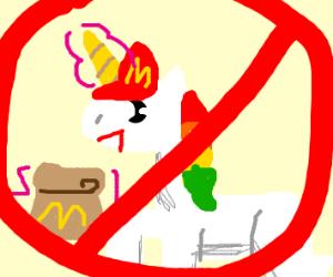 McD's: no hiring unicorns!