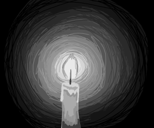 Candle but in black and white