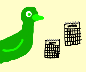 Green chicken have 2 years