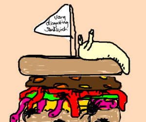A very disgusting sandwich