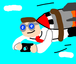A flying Dude with a Camera