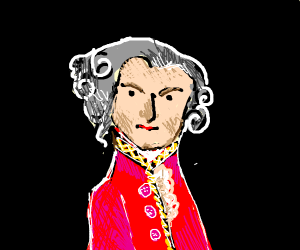Mozart in a red & black void