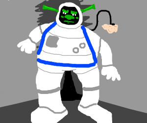shrek and goofy, a space odyssey