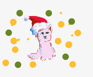 cute cat is Christmas ready