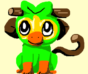 leaf monkey from the new pokemon