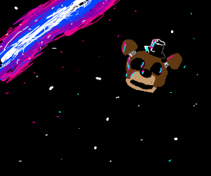 freddys beheaded head explores outer space