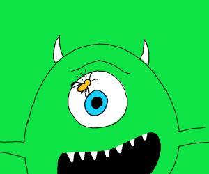 bugs in mike wazowski eye