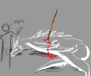 Oops i speared the dragon
