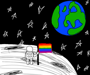 Astronaut being a proud bisexual!