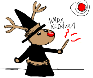 Rudolph the Red nosed wizard