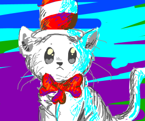 Realistic cat in a hat, Dr Seuss