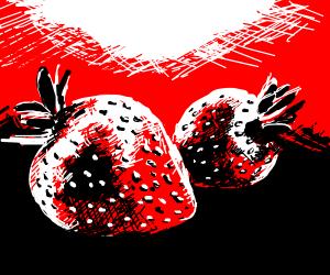 very well drawn strawberries