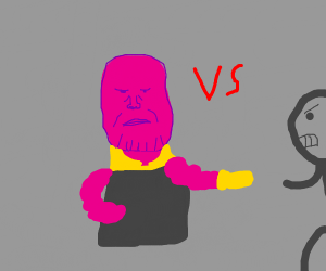 thanos vs grey guy