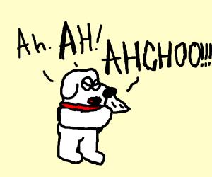 Brian Griffin sneezing