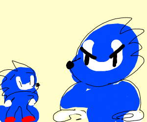 big sonic mad at smol sonic