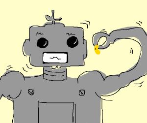 Robot eating beans