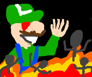 Luigi condemns people to Hell