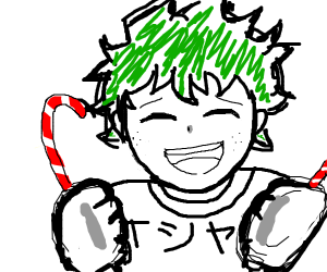 Deku loves candy canes