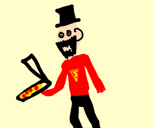 Magician pizza delivery guy