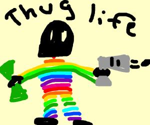 thug rain bow man