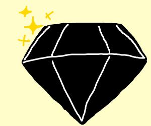 Sparkly black diamond