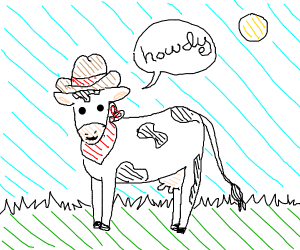 Cow Cowboy Saying Howdy
