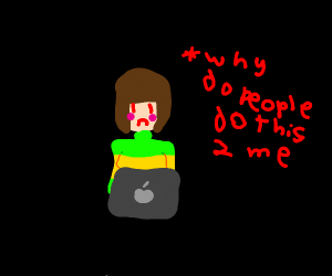 Chara Undertale googles themselves