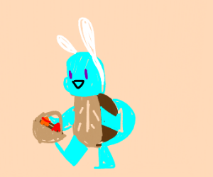 Easter Squirtle delivering eggs