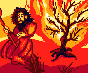 the burning bush story