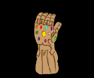thanos needs more colors on his gauntlet