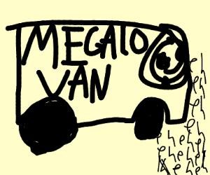 """Sans gets children in his """"Megalo van"""""""