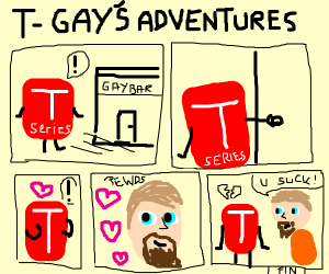 T-Gay sucks but in a comic