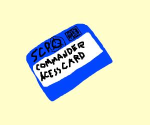 SCP secret laboratory NTF Commander card