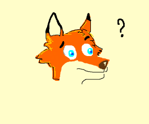 Confused fox