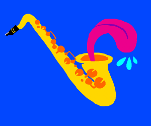 saxaphone with tounge