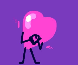 heart with arms and legs