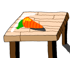 carrot atop wood table