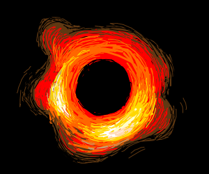 its the black hole picture