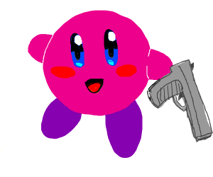 kirby please put down the gun