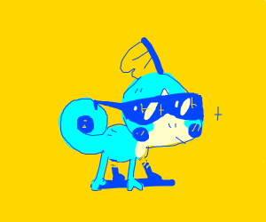 Sobble (Pokémon) wearin' sunglasses