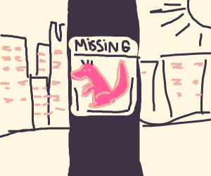 Godzilla on a missing sign