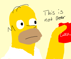 Homer and soda can