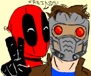 Star-Lord & Deadpool are friends