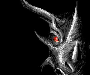 Gray Dragon With Red Eyes Drawception